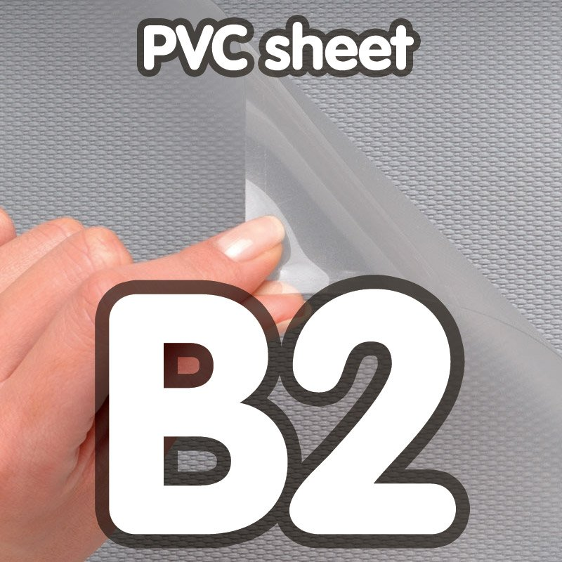 Pvc cover 0 5 mm anti-reflection B2