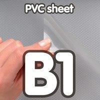 Transparant PVC sheet 0,5 mm Anti Reflex 700 x 1000 mm B1