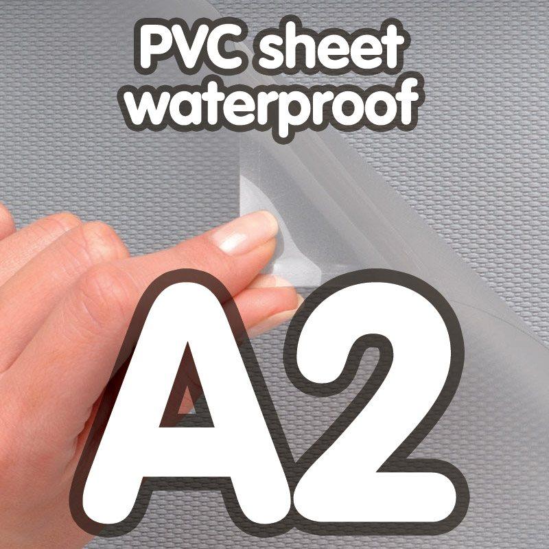 Transparent pvc sheet 0.4mm anti-reflection waterproof A2