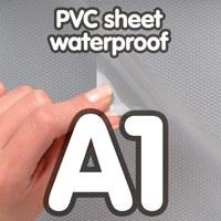 Transparant PVC sheet 0.4 mm Anti Reflex waterdicht 594x 841 mm A1
