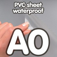Transparant PVC sheet 0.4 mm Anti Reflex waterdicht 841x 1189 mm A0