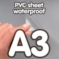 Transparant PVC sheet 0.4 mm Anti Reflex waterdicht 297 x 420 mm A3