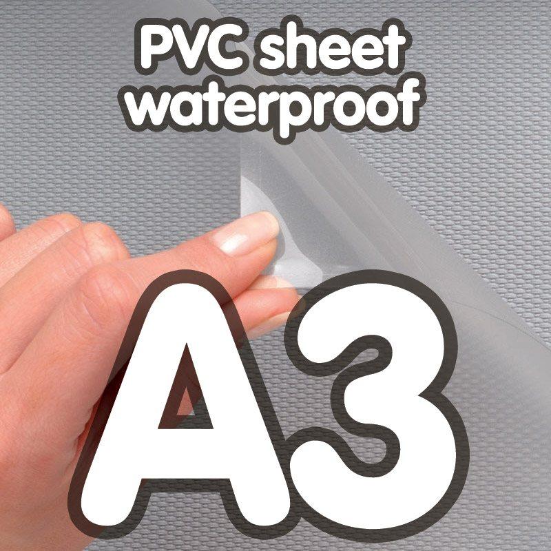 Transparent pvc sheet 0.4mm anti-reflection waterproof A3