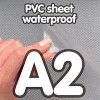 Transparant PVC sheet 0.4 mm Anti Reflex waterdicht 420 x 594 mm A2