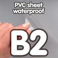 Feuille de PVC B2, pour cadre à clipser étanche, profilé 25 mm