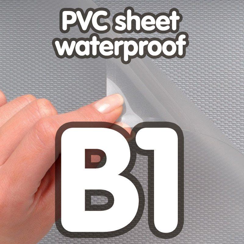 Transparent pvc sheet 0.4mm anti-reflection waterproof B1