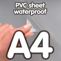 Feuille de PVC A4, pour cadre à clipser étanche, profilé 25 mm