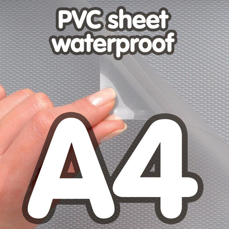 Transparent pvc sheet 0.4mm anti-reflection waterproof A4