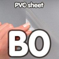 Transparant PVC sheet 0,5 mm Anti Reflex 1000 x 1400 mm B0