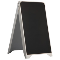 Plastic sidewalk board, chalk, double-sided