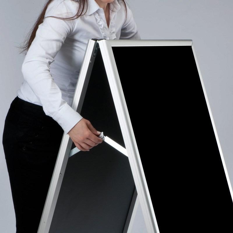 Sidewalk chalk board a-model aluminum frame 600 x 800 mm