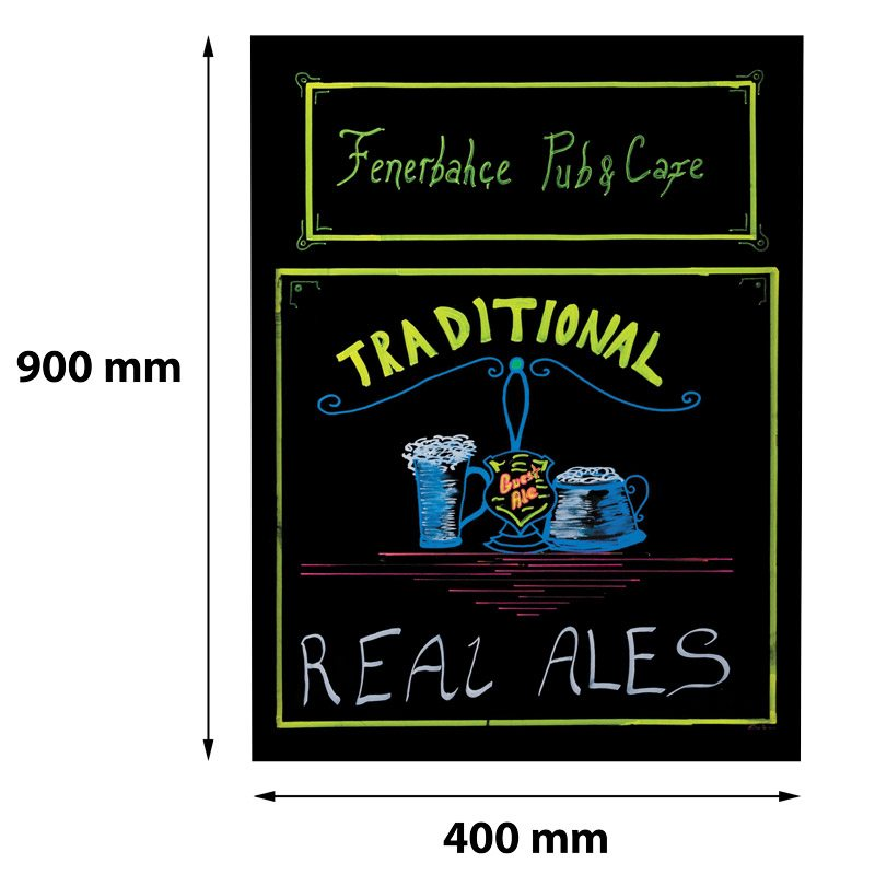 Kreide-Display ohne Frame 400 x 900 mm