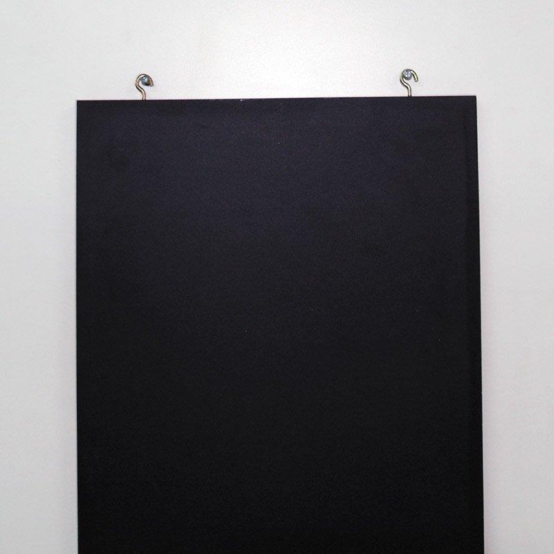 Frameless chalkboard 400 x 900 mm black