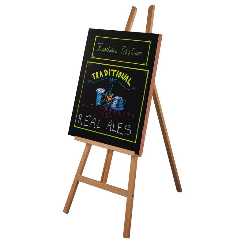 Frameless chalkboard 600 x 1150 mm black