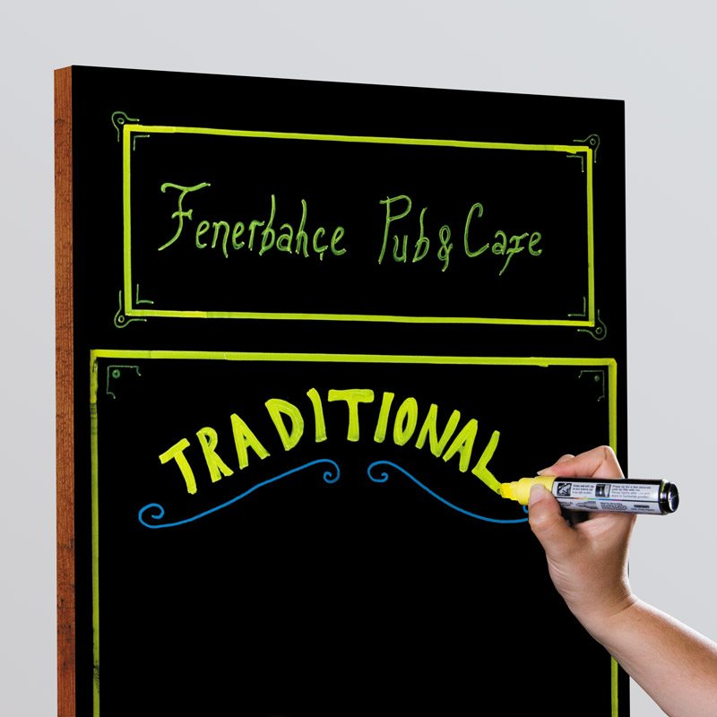 Frameless chalkboard 600 x 800 mm black