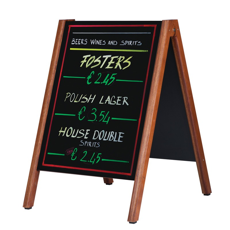 Wooden host with black chalkboard solid 600 x 800 mm