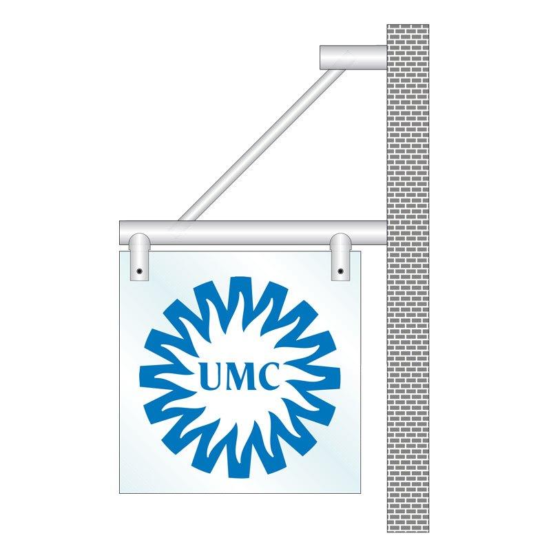 Flagline wallplate rods diameter 9ø18 mm glass thickness 8 mm 180 x 180 mm