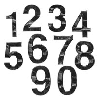 Plastic chromed house numbers 0-9 number