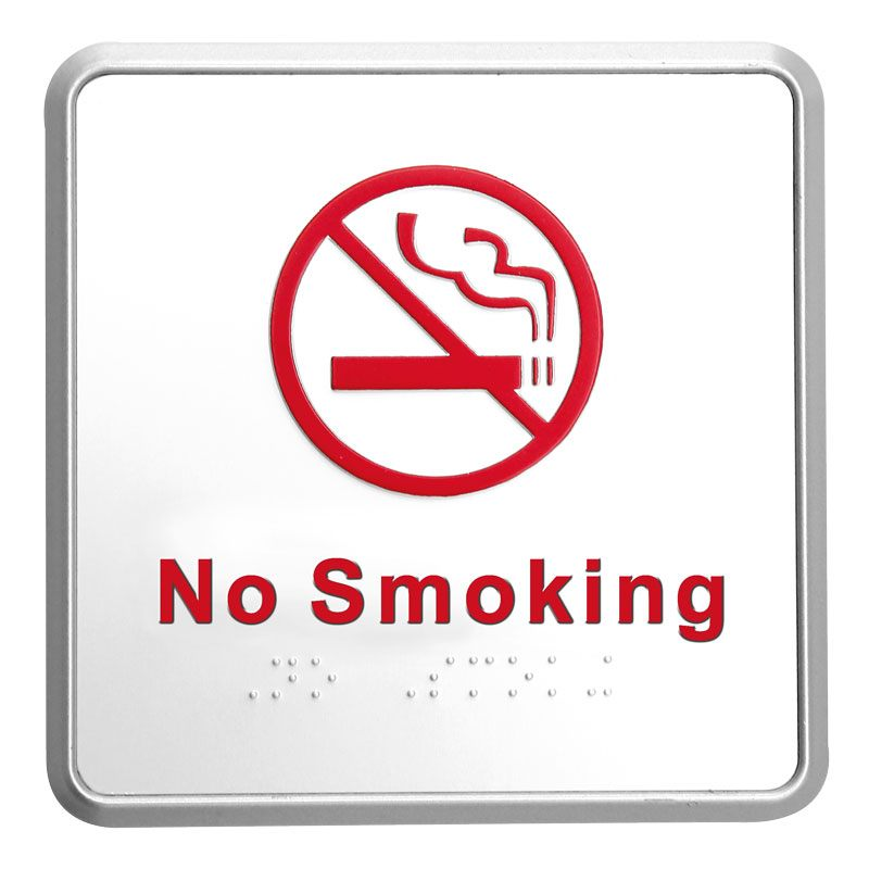 No smoking sign silver