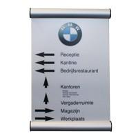 Signalétique de porte 26 mm avec systemes a clip A3