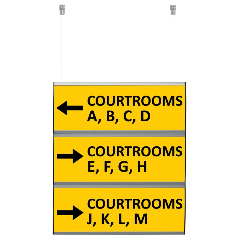 Wall sign double sided set