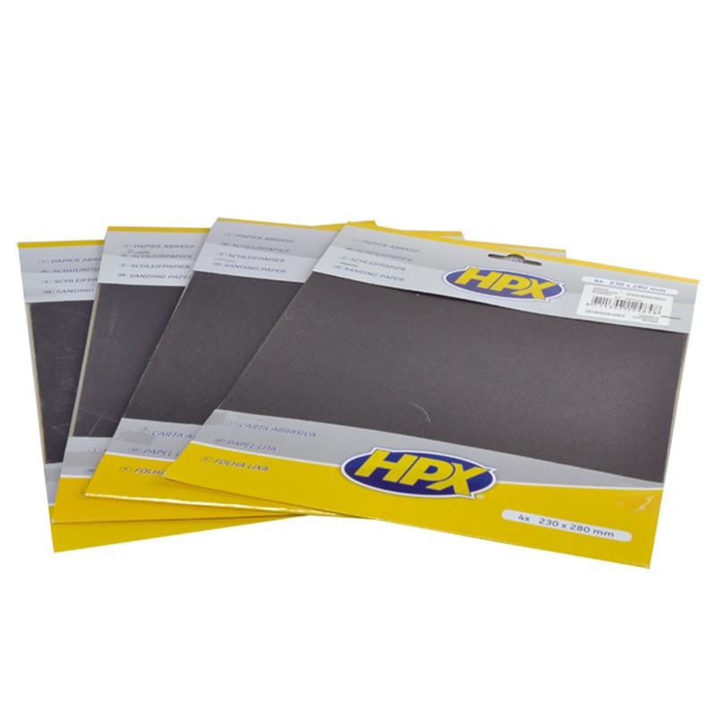 Papier émeri - set de 4 - 1xP80 2xP120 1xP180
