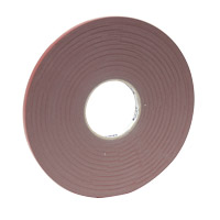 Acrylic adhesive strip double sided, 12 mm wide, gray