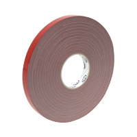 Acrylic adhesive strip double sided, 19 mm wide, gray
