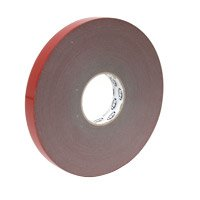 Acrylic adhesive strip double sided, 25 mm wide, gray