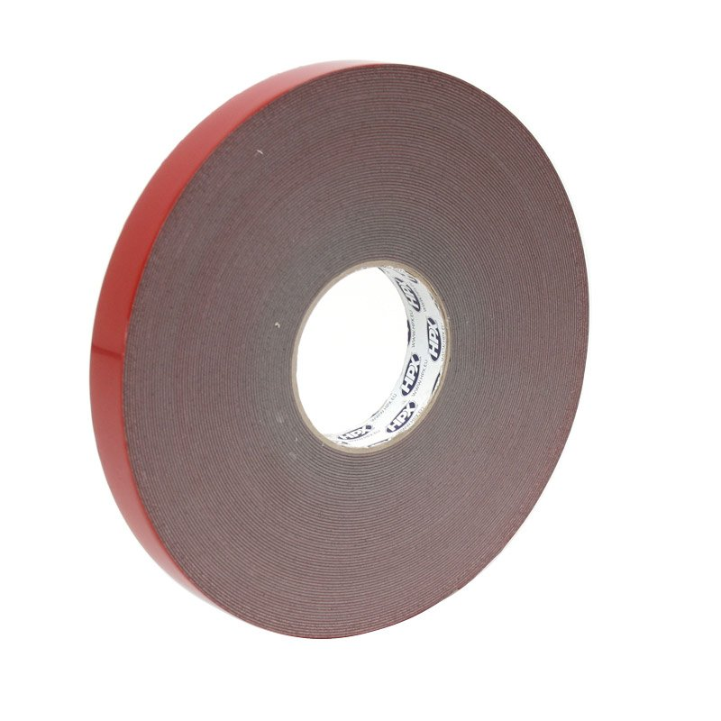 Double-sided glue line 25 mm transparant
