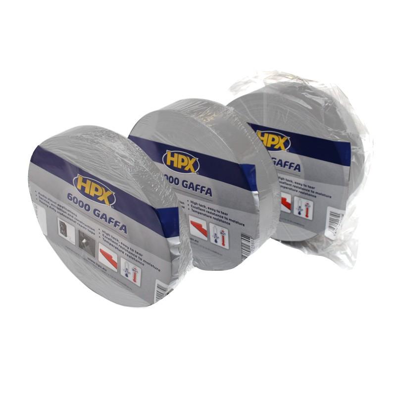 Gaffer tape 6000 AV 75 x 50.000 mm lengte wit