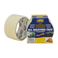All weather tape transparant 48 mm x 5 meter