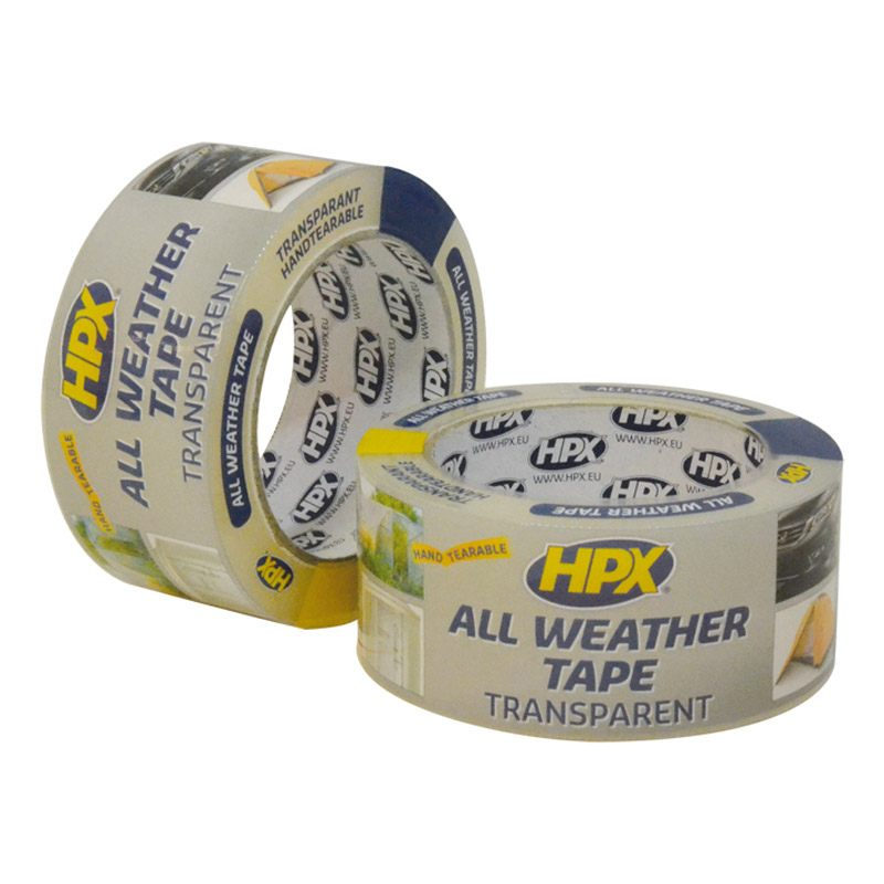 All weather tape transparant 48 mm x 25 meter
