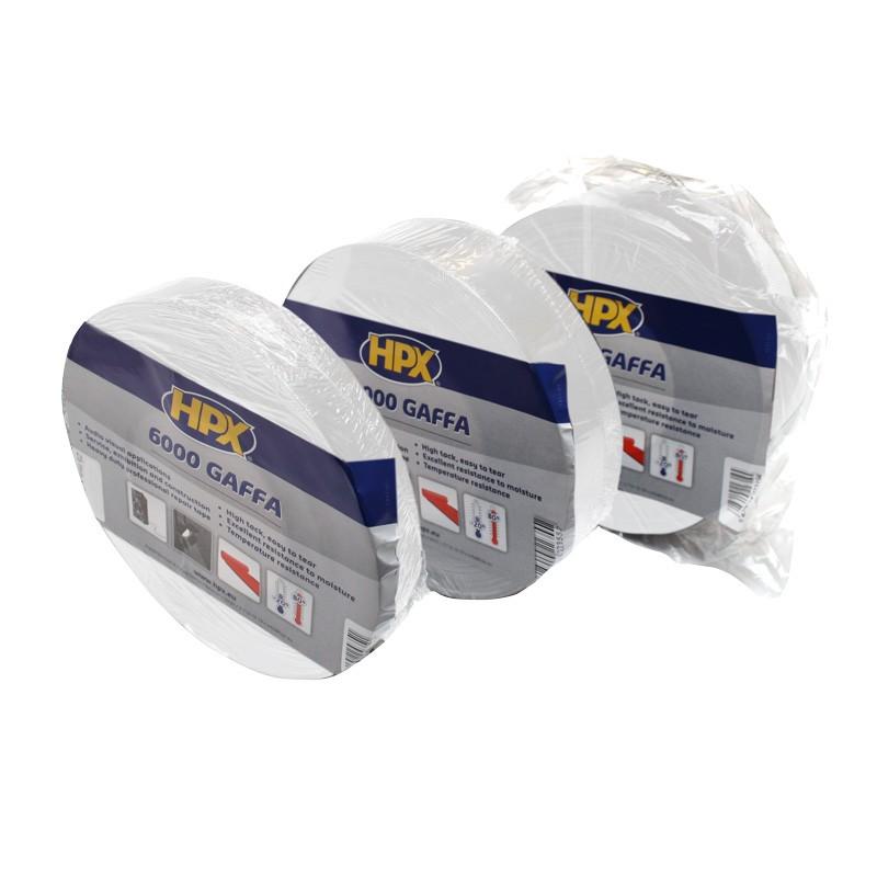 Gaffer tape 6000 av 48 x 50 000 mm length white