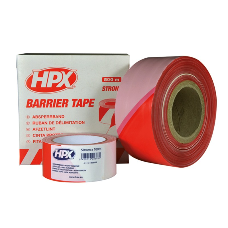 Barrier tape 50 mm 10 000 mm wide. long red and white