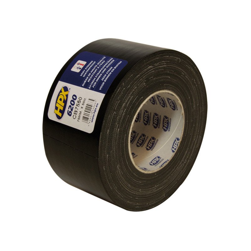 Hpx 6200 tape 75 mm x 50 meter black
