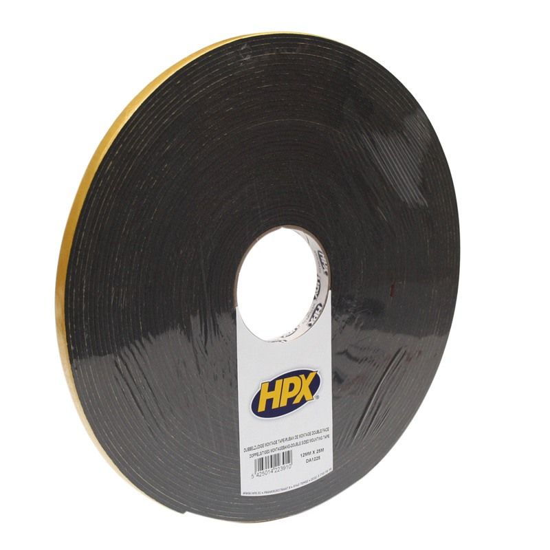 Double-sided foam tape 3 x 12 x 25 000 mm anthracite