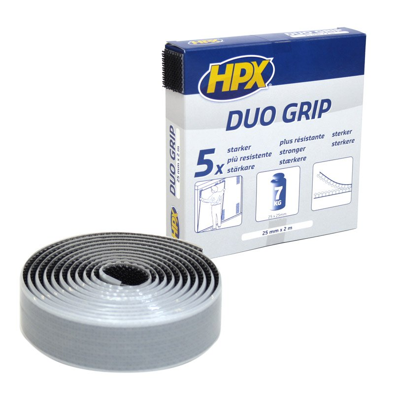 Bande velcro Duo Grip 25 mm x 2 m