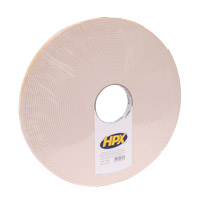 Double-sided foam tape 3 x 19 x 25 000 mm roll on white