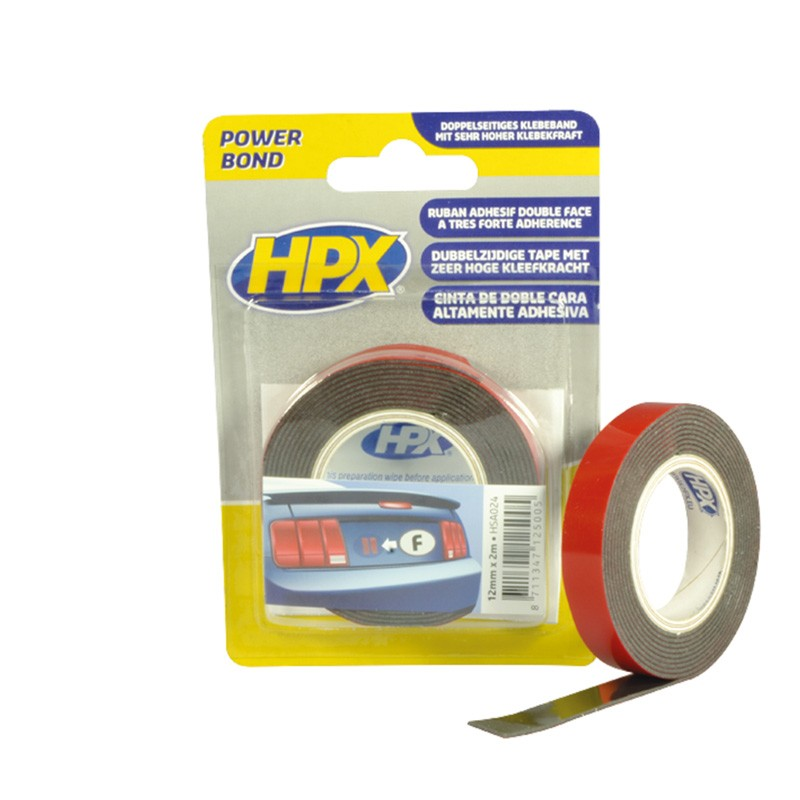 Acrylic tape double-sided high tack 19 mm anthracite
