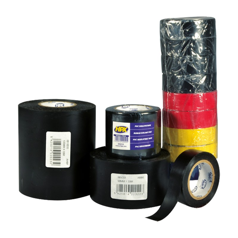 Pvc insulation tape 19 mm wide 10 m long yellow