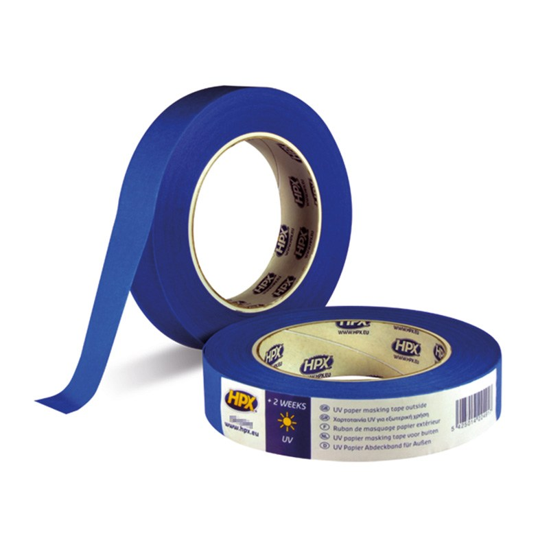 Crepe tape UV resistant 19 mm x 50 m blue