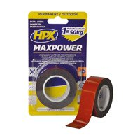 Max power outdoor 25 mm x 1.5 m black