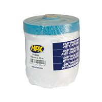 HDPE film tape 550 mm x 20 m transparent