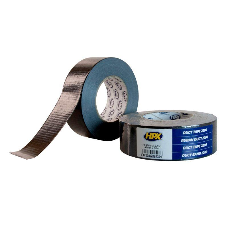 Duct tape 2200 48 mm x 50 m Zwart