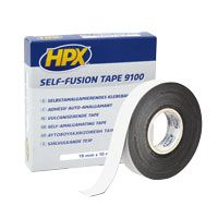 Self fusion vulkaniserende tape 19 mm x 10 meter zwart