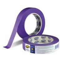 Crepe tape 25 mm x 25 meter paars lage kleefkracht