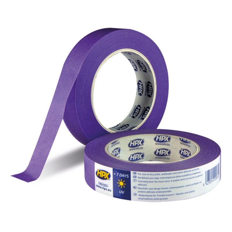 Crepe low tack tape 25 mm x 25 m purple