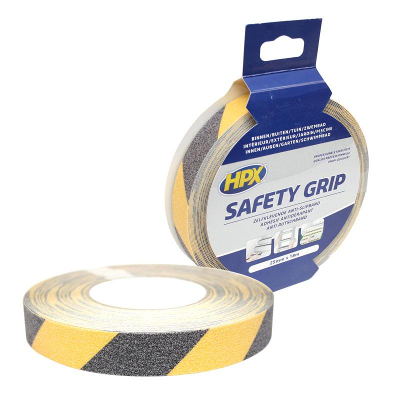 Nonslip tape 25 mm x 18 m black-yellow