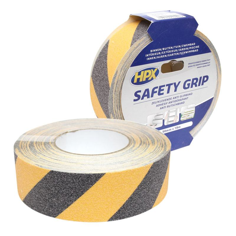 Nonslip tape 50 mm x 18 m black-yellow
